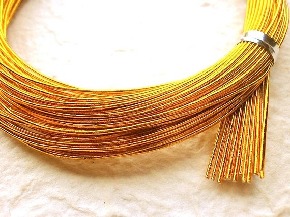 Mizuhiki Japanese Decorative Paper Cords Gold