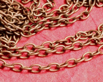 Antique copper cable chain 2.5x2mm, 5 ft (YWAC0.6SZ)