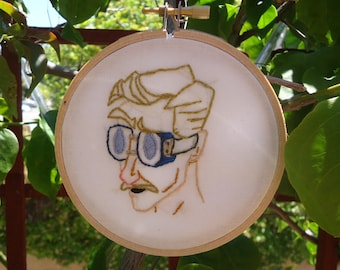 I Believe in Science - Embroidered Portrait