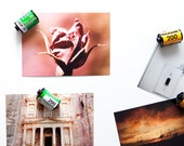 Upcycled Film Canister Fridge Magnet (For Film Lovers) 5-Pack Kitchen Decor, Vintage Photography
