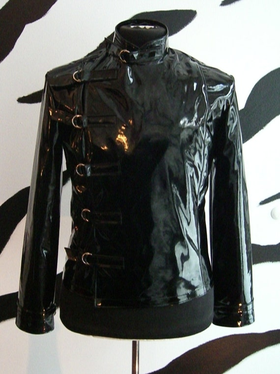 PVC Vinyl Buckle Straight Jacket Supernal Clothing fetish goth