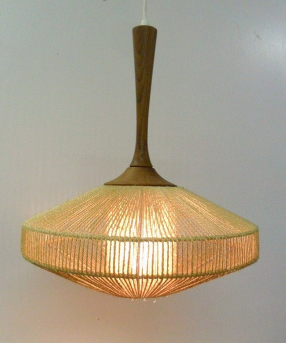 Mid Century Modern Swag Lamp By Auctionannie On Etsy