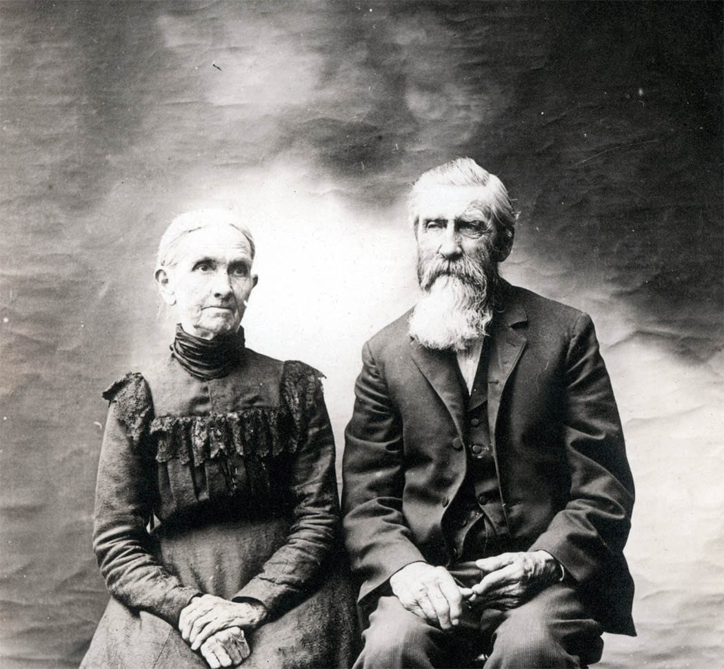Vintage Photo Large Portrait 100 Yr Old Couple By Maclancy