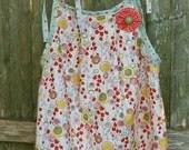 Watercolor Wild Flowers Pillowcase Tunic Dress size 3T