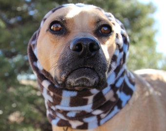 Polar Fleece snood for Small to Medium Dog - Dog Bone Print