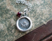 Memorial Necklace - Forget me Not Keepsake Jewelry in eco friendly fine silver choice of semiprecious stones