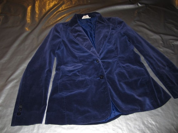 Vintage Deep Purple Velvet Jacket - 1960's Women's Blazer - Fits MEDIUM - Lined