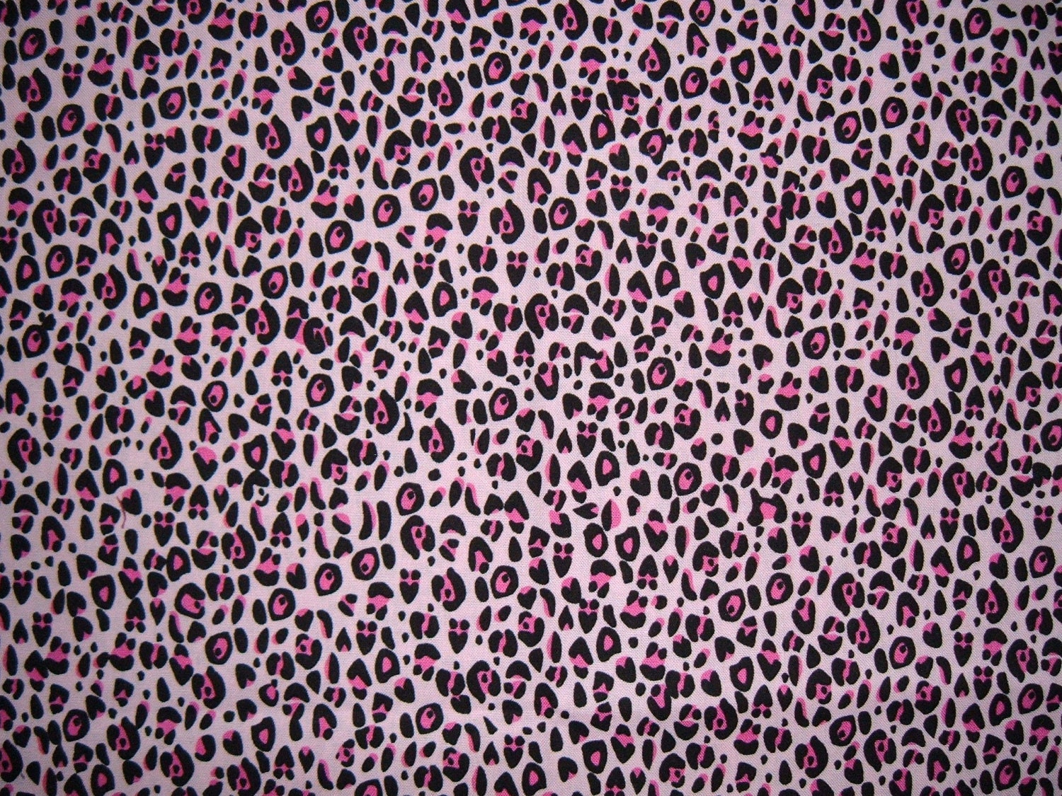 Set Of Two Pink And Black Leopard Print Valances Window