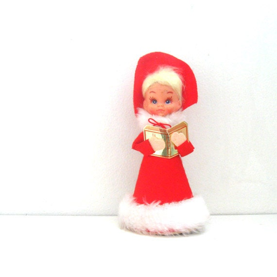 Vintage Ceramic Christmas Carolers Choir Boy And Girl: Vintage Christmas Ornament Choir Caroler Dolls Tree Decoration