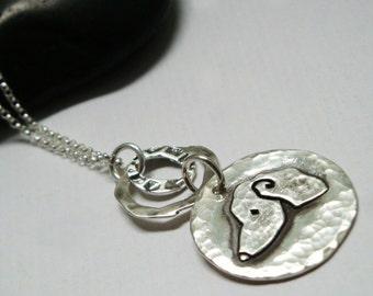 Dachshund Pendant - Dachshund Jewelry -Simply Love Mod - Fine Silver - Doxie