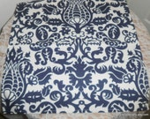 Free Domestic Shipping-Amsterdam Navy on White Table Square -Wedding Accessories/Formal Events/Formal Dining/Table Linens/Overlays