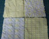 20 Vintage Pastel Squares Cotton Chenille Bedspread sewbuzyb sweet treats sst