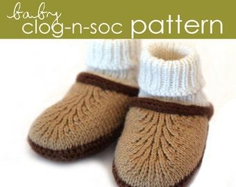 Baby Clog-n-Soc PDF PATTERN - (0-3, 3-6, 6-12 months)