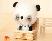 Panda bear softie toy / stuffed animal bear - made to order -