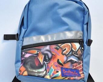 Toddler Backpack - blue skies-graffiti