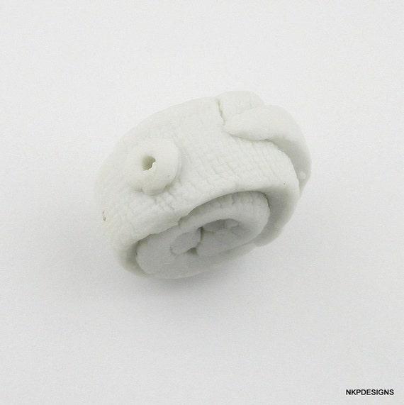 Pure White Unglazed Porcelain Bead