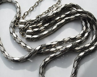 Sale - Silver Color Fancy Chain Necklace - Ready to Go Wear