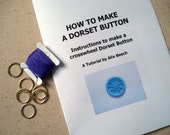 DIY KIT Dorset Button Making Kit - Purple - How to Make 6 Buttons