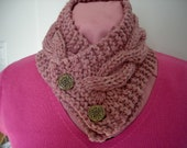 WOOL Double Knit Scarf  Wood Rose  12 - 68