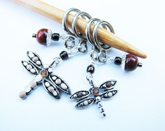 Dragonfly Non-Snag Stitch Markers