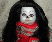 Day of the Dead OOAK Custom Gothic Reborn Horror Baby Doll Amelia