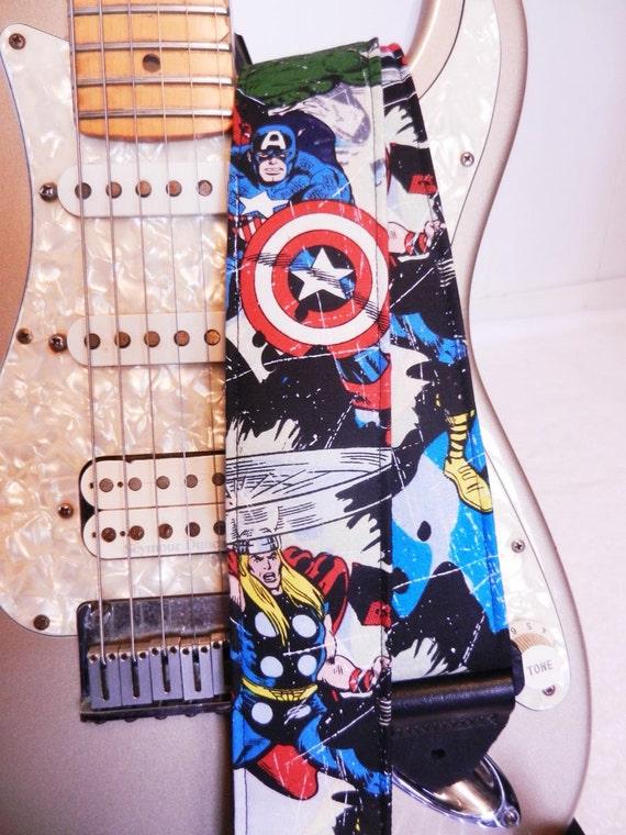 Captain America Thor Hulk Comic guitar strap