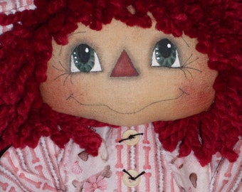 Primitive Raggedy Ann Simply Courtney INSTANT DOWNLOAD PATTERN #116 Hafair Faap