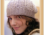 Instant Etsy Download PATTERN - Jerome Avenue Unisex Beanie Crochet Pattern -Delicious Texture and Grunge Attitude - Chunky Weight
