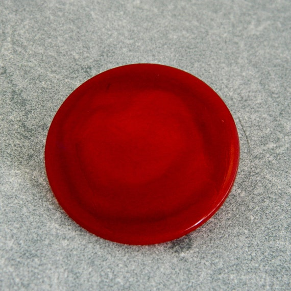 Large Vintage 1930's or 40's Coat Buttons-Red Pearlescent Plastic -VRP2