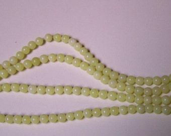 Full Strand of Peridot Jasper 6mm Beads