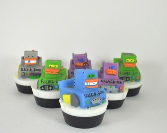 Robot Rubber Duck Soap - cute party favor soap for children