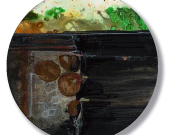 Circle Abstraction Series ... No. 39 ... Original Contemporary Modern circle painting by Kathy Morton Stanion EBSQ
