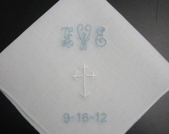 Personalized First Communion or Wedding Hankie