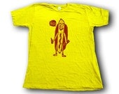 Drunk Hot Dog Woodblock Printed Tee Shirt i hand printed gift box