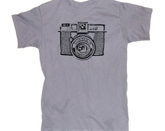 Mens VINTAGE CAMERA T-shirt