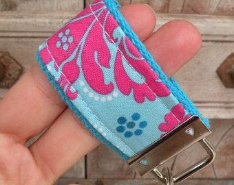 READY To Ship-MINI-MINI Keychain-Cotton Candy on Turq