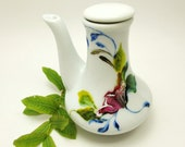 Hand Painted Creamer Pitcher- Original Floral Design- Handmade Home Decor