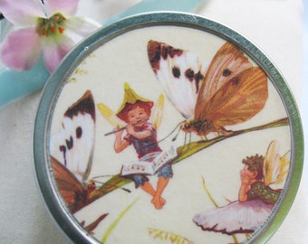 Tooth Fairy Box with poem. Musical Flute Fairy Trinket/pill box.