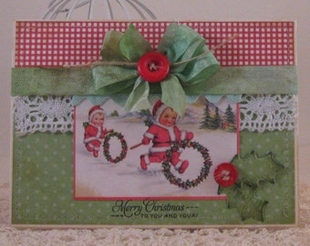 Merry Christmas - Card and Envelope
