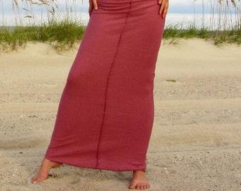 Organic Warrior Pencil Long Skirt ( NC Grown Organic Cotton ) organic skirt  :