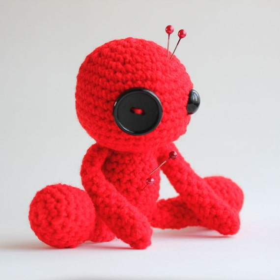 Confidence the Red Amigurumi Voodoo Doll