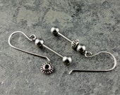 """1"""" Beadable Ready to Assemble Earring Set - DIY Stainless Steel Bead Bars,earring bead bars,jewelry supplies,interchangeable bead rods"""