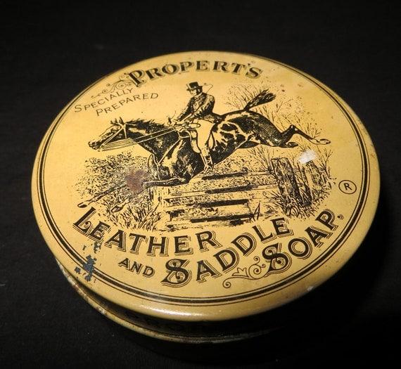 Vintage Propert's Leather Saddle Soap Tin