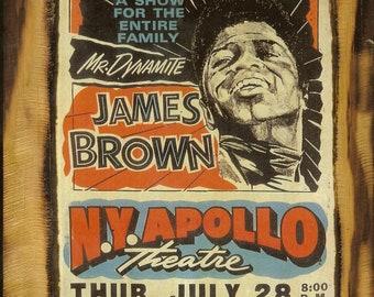 James Brown Concert Poster - Wooden Plaque
