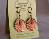 Big Chief Warrior Earrings in Copper