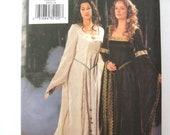 Butterick 3552 Sizes 6, 8, 10 Medieval Sewing Pattern