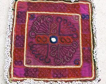 Vintage Embroidered Doily, Afghanistan: Zazi Silk, Item 131