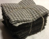 Twenty Three Grey 4 inch  Hand Dyed Wool Squares  for Penny Rug and Applique