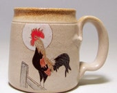 Rooster Stoneware  Coffee  Mug Limited Series 73 (microwave safe) 12 oz