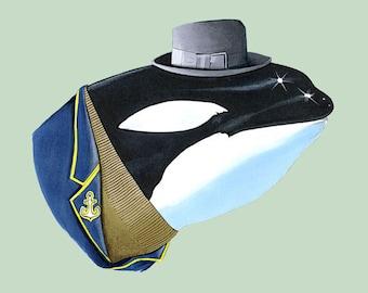 Orca print 5x7